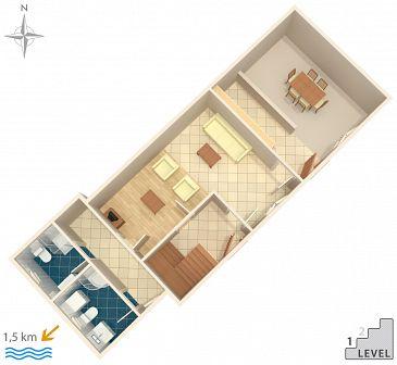 House K-7995 - Vacation Rentals Stivan (Cres) - 7995