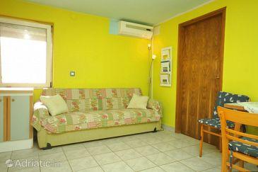 Veli Lošinj, Living room u smještaju tipa apartment, dostupna klima, dopusteni kucni ljubimci i WIFI.