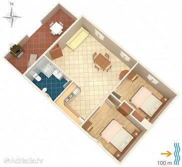 Apartment A-8050-e - Apartments Susak (Lošinj - Susak) - 8050