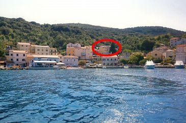 Obiekt Valun (Cres) - Zakwaterowanie 8086 - Apartamenty blisko morza ze żwirową plażą.