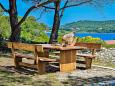 Veli Rat, Dugi otok, Courtyard 8096 - Vacation Rentals with rocky beach.