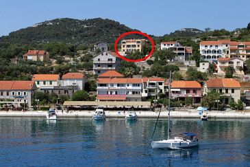 Property Sali (Dugi otok) - Accommodation 8152 - Apartments with pebble beach.