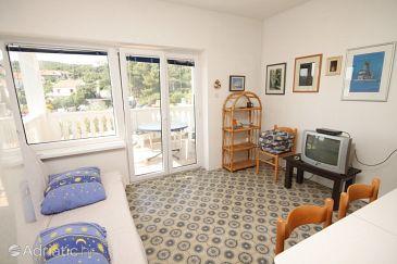 Zaglav, Living room u smještaju tipa apartment, dostupna klima.