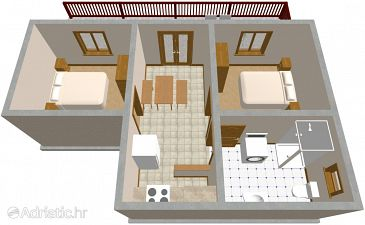 Apartment A-825-b - Apartments Tkon (Pašman) - 825