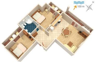 Apartament A-834-a - Apartamenty Kali (Ugljan) - 834