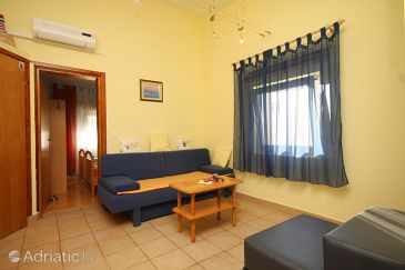 Ždrelac, Living room u smještaju tipa apartment, dostupna klima i WIFI.