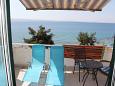 Podstrana, Terrace u smještaju tipa apartment, s pogledom na more i WIFI.