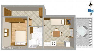Apartment A-846-c - Apartments Ugljan (Ugljan) - 846