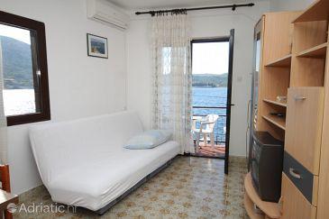 Vis, Living room u smještaju tipa apartment, dostupna klima i WIFI.