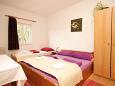 Mlini, Bedroom u smještaju tipa studio-apartment, dostupna klima i WIFI.