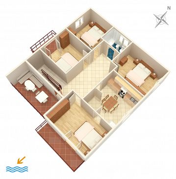 Apartament A-865-a - Apartamenty Biograd na Moru (Biograd) - 865