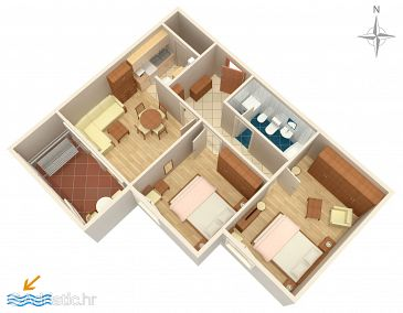 Apartment A-8666-a - Apartments Dugi Rat (Omiš) - 8666