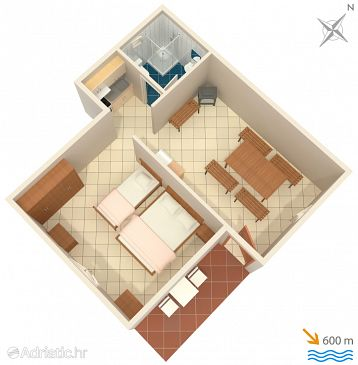 Apartment A-867-b - Apartments Punta križa (Cres) - 867