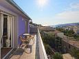 Hvar, Balcony u smještaju tipa apartment, s pogledom na more, dopusteni kucni ljubimci i WIFI.