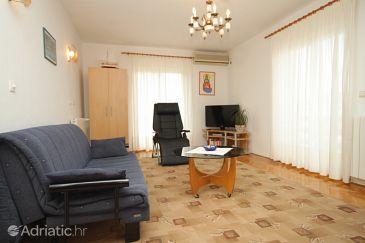 Hvar, Living room u smještaju tipa apartment, dostupna klima i WIFI.