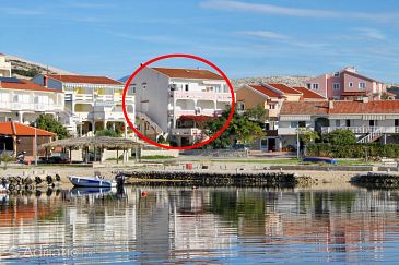 Property Kustići (Pag) - Accommodation 9036 - Apartments near sea with pebble beach.