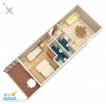 Apartment A-9037-d - Apartments Marina (Trogir) - 9037