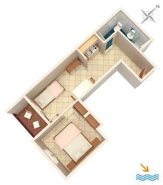 Apartment A-907-a - Apartments Zaglav (Dugi otok) - 907