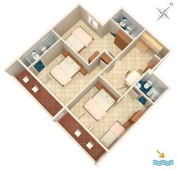 Apartment A-907-c - Apartments Zaglav (Dugi otok) - 907