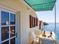 Molunat, Balcony u smještaju tipa apartment, s pogledom na more i WIFI.