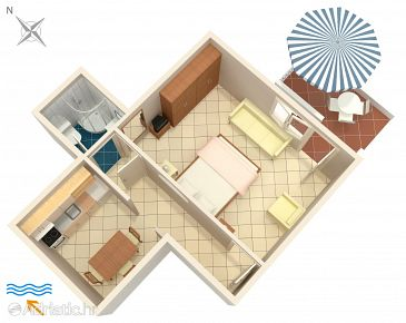 Apartment A-9160-a - Apartments Korčula (Korčula) - 9160