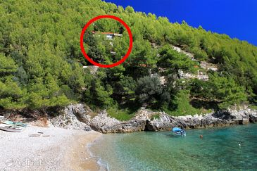 Property Bratinja Luka (Korčula) - Accommodation 9224 - Vacation Rentals near sea with pebble beach.