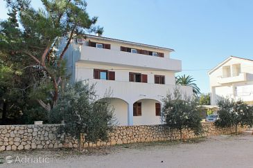 Property Novalja (Pag) - Accommodation 9350 - Apartments with pebble beach.