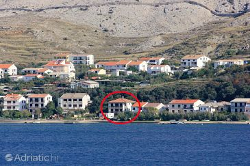 Property Pag (Pag) - Accommodation 9355 - Apartments near sea with pebble beach.