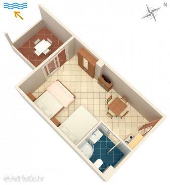 Studio flat AS-9361-b - Apartments Novalja (Pag) - 9361