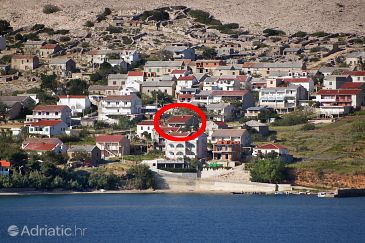 Property Zubovići (Pag) - Accommodation 9363 - Apartments near sea with sandy beach.