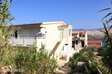 Property Pag (Pag) - Accommodation 9408 - Apartments with pebble beach.