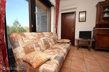 Arbanija, Living room u smještaju tipa apartment, dostupna klima, dopusteni kucni ljubimci i WIFI.