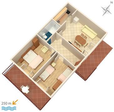 Apartment A-953-a - Apartments Marušići (Omiš) - 953