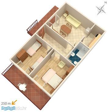 Apartment A-953-b - Apartments Marušići (Omiš) - 953