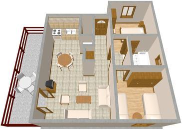 Apartament A-967-a - Apartamenty Pisak (Omiš) - 967