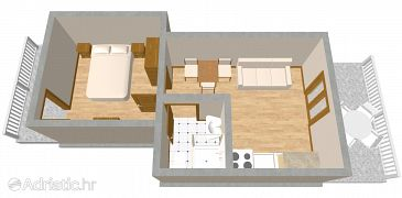 Apartment A-990-b - Apartments and Rooms Lučica (Lastovo) - 990