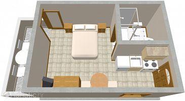 Studio flat AS-995-a - Apartments Zaklopatica (Lastovo) - 995