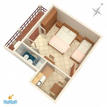 Studio flat AS-996-a - Apartments Pasadur (Lastovo) - 996
