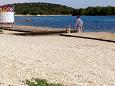 Beach  in Raslina, Krka.