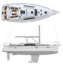 Yacht charter Beneteau Oceanis 40 | C-SY-1184 - Plans
